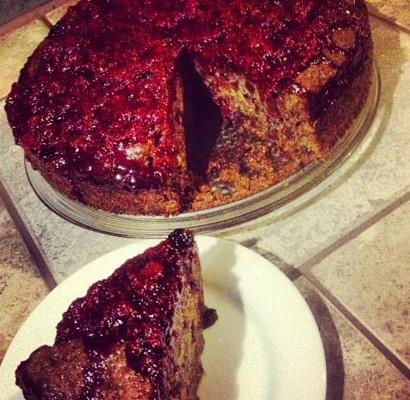 chico sapote cake with berry glaze recipe kumu aina farm